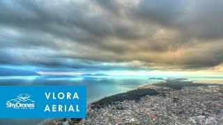 Vlora Albania  city photo : Vlora Albania from air - Drone Aerial Video