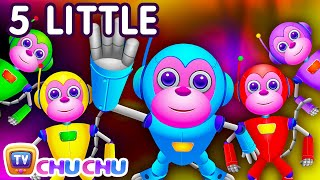 Five Little Monkeys Jumping On The Bed | Part 2 - The Robot Monkeys | ChuChu TV Kids Songs