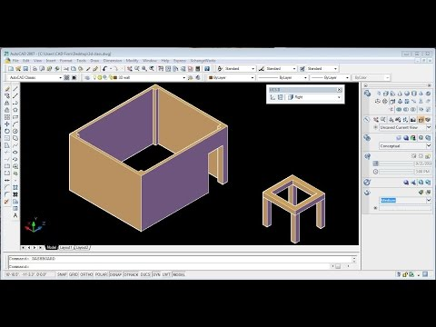 AutoCAD 2007 3D (basic Tutorial For Beginners )