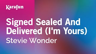 Stevie Wonder karaoke Signed Sealed Delivered (I'm Yours)