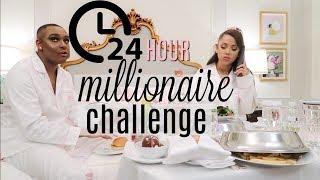 Video 24 hour overnight challenge as millionaires! MP3, 3GP, MP4, WEBM, AVI, FLV Desember 2018