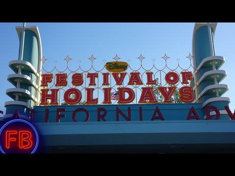 Let the Festival of Holidays at California Adventure Begin! | Gadgets Go Coaster (видео)