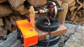 How to Make Electric Running DC Motor using Magnet at Home - Science School Project Very Easy Way To