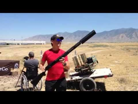 This is what a silencer on a shotgun sounds like.