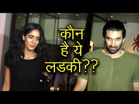 Aditya Roy Kapur With A Mystery Gril CAUGHT On A D