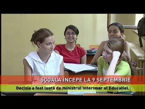 Deschiderea anului școlar, pe 9 septembrie