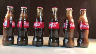 The weather got extremely cold (-16 F). A video was created to see what would happen to bottles of Coke in the extreme cold weather. What happened depended upon the caps holding to the bottle. The process took over three hours.