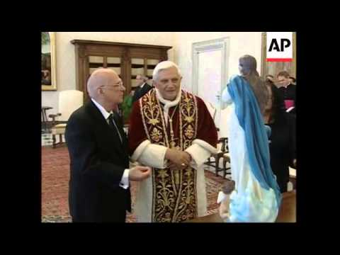 Pope meets President Enrique Bolanos Geyer