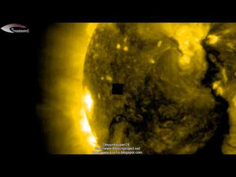 Incredible Review! Huge UFOs and Giant Anomalies near the Sun on February 16, 2013.