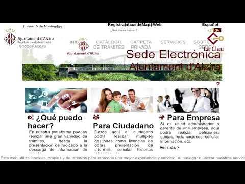 Ajuntament Alzira_Firma electrònica a La Clau