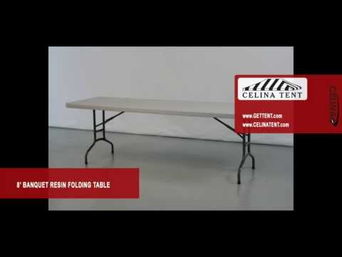 8′ x 30″ Banquet / Rectangle Resin Folding Tables