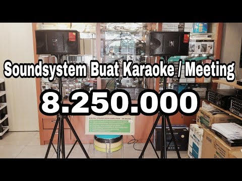 Soundsystem Buat Karaoke Room Dan Meeting Room