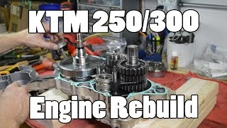 1. How-To: KTM 250 300 380 SX MXC EXC Top & Bottom Engine Rebuild 2003-2015