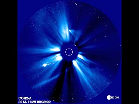 Comet ISON's perihelion from the STEREO spacecraft