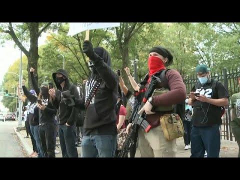 USA: Schwer bewaffnete Trump-Anhänger zeigen sich in Atlanta