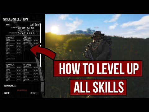 SCUM -  How To Level Up ALL Skills and How They Work | Guide |