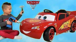 New Disney Cars 3 Lightning McQueen Battery Powered 6V Ride On Car Park Test Drive Ckn Toys