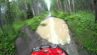 10. 2007 honda foreman 500 & 2009 yamaha grizzly 700 trail ride