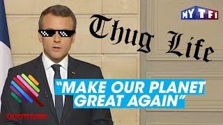 """Video """"Make Our Planet Great Again"""" : Emmanuel Macron massacre Donald Trump - Quotidien du 02 juin 2017 MP3, 3GP, MP4, WEBM, AVI, FLV Agustus 2017"""