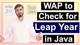 Program to Check for Leap Year in Java by Deepak