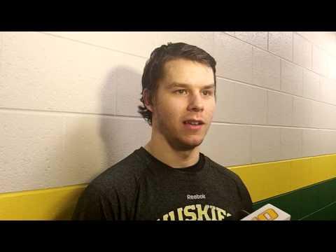 Tanner Kero Postgame Interview at Northern Michigan, 2-22-14