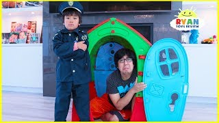 Video Ryan Pretend Play Police Helps Daddy and Mommy learn Good Habits MP3, 3GP, MP4, WEBM, AVI, FLV April 2019