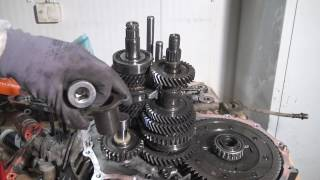 8. What is issue with grinding sound from the transmission when driving on gears