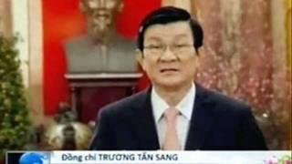 Dân phản ứng gì khi ông Trương Tấn Sang  chúcTết ? .wmv