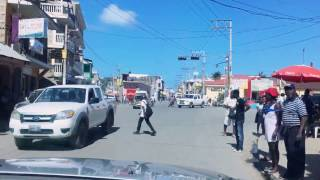 Driving on the Rue A in Cap-Haitien, Haiti