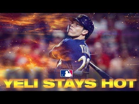 Video: Christian Yelich STILL HOT in MLB Second Half   MLB Highlights