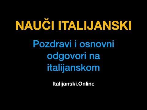 Italijanski jezik 2: Pozdravi i osnovni odgovori na italijanskom - Italijanski.Online