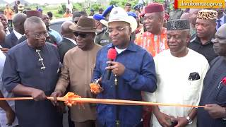VIDEO: GOV. UDOM COMMISSIONS PROF. OFFIONG AND JUSTICE EDET NKO STREETS IN SHELTER AFRIQUE
