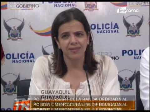 Policía desarticula banda dedicada al robo de mercadería en 6 provincias