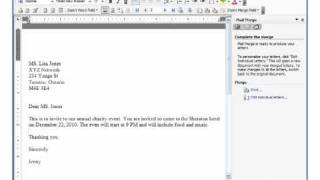 MS Word 2003 Mail Merge Pt 2