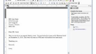MS Word 2003 Mail Merge Pt 2