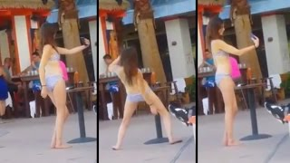 Bikini Girl Tries TOO HARD To Take A Selife | What's Trending Now