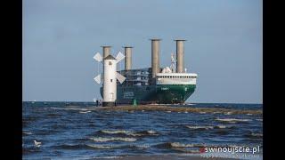 Słynny rotorowiec w Świnoujściu – E-Ship 1 po raz pierwszy w Polsce
