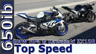 8. 2013 BMW HP4 vs 2011 Kawasaki ZX10R: TOP SPEED RACES!