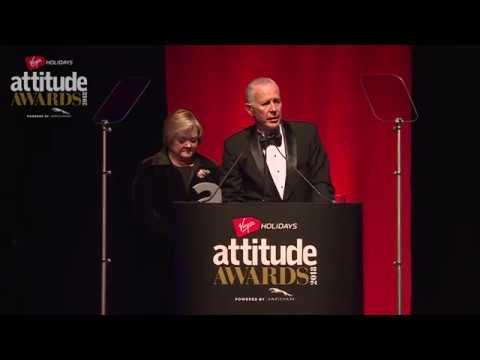 Matthew Shepard's parents accept the Attitude Inspiration Award