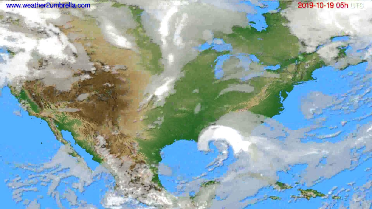 Cloud forecast USA & Canada // modelrun: 00h UTC 2019-10-18