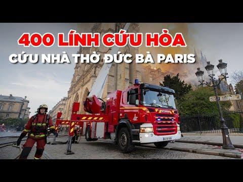 400 lính cứu hỏa Pháp chữa cháy nhà thờ Đức Bà Paris như thế nào? - Thời lượng: 1:46.