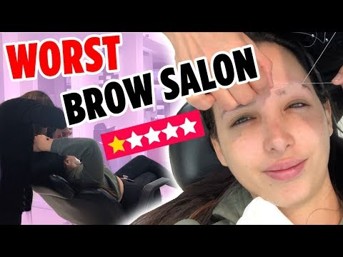 Nail salon - I WENT TO THE WORST REVIEWED BROW SALON IN MY CITY ON YELP (1 STAR )  Mar