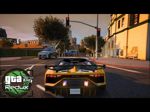 GTA 5 Redux 1.9 - Real Life Graphics Mod - Raw Gameplay 2020