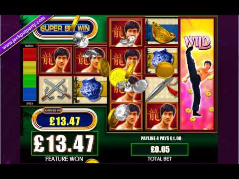 £18.60 BRUCE LEE™ MEGA BIG WIN SLOTS AT JACKPOT PARTY (372X)