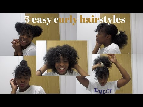 Curly hairstyles - 5 easy hairstyles for curly natural hair  elizabethewriter