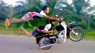 Dead-Defying Stunts By Two Crazy Talented Thailand Riders