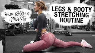 LEGS & BOOTY STRETCHING ROUTINE | How to Foam Roll, Stretch & Get Flexible | MOBILITY
