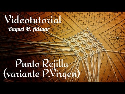 bobbin lace - rejilla point