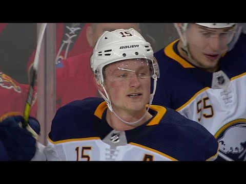 Video: Jack Eichel unleashes one-timer to give Sabres OT win over Flames