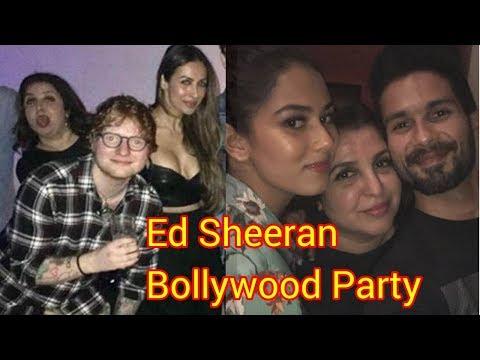 Farah Khan and Ed Sheeran Dance at Party In Mumbai